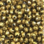 CRT435 - Cristal Dourado 6mm - 100Unids