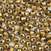 CRT535 - Cristal Dourado 4mm - 150Unids