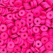 DF16 - Disco Fimo Emborrachado Pink 6mm - 01Fio