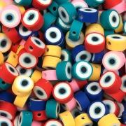 DF44 - Fimo Emborrachado Olho Gregro Cores Variadas - 20Unids