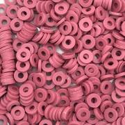 DF69 - Disco Fimo Emborrachado Rosa Queimado 5mm - 01Fio