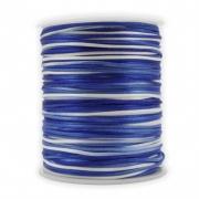 FS13 - Fio de Seda 1mm Tie Dye Azul - 5metros