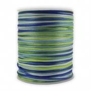 FS15 - Fio de Seda 1mm Tie Dye Verde - 5metros