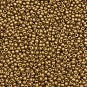 MIC10 - Miçanga Jablonex nº9 Dourado Ouro 2,6mm - 10Grs