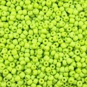MIC138 - Miçanga Similar Verde Limão Neon nº5 - 10g