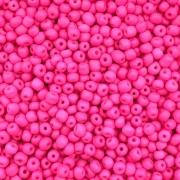 MIC142 - Miçanga Chinesa nº5 Rosa Chiclete Neon 3,2mm - 10Grs