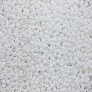 MIC19 - Miçanga Jablonex nº9 Branco Boreal 2,6mm - 10Grs