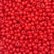 MIC30 - Miçanga Jablonex nº6 Vermelho 4,1mm - 10Grs