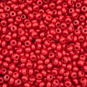 MIC75 - Miçanga Jablonex nº6 Vermelho Escuro 4,1mm - 10Grs