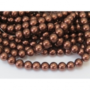 PE15 - Pérola de Vidro Chocolate 10m - 85Unid