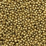 PE42 - Pérola de Resina 3m Dourado - 10Grs