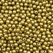 PE56 - Pérola de Resina 5m Dourado - 10Grs