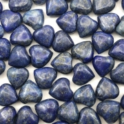 PN114 - Coração Pedra Natural 10mm Lápis Azul - 04Unids