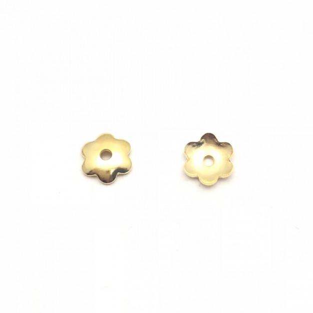 AC126 - Tulipa Rosinha 5mm Banhado Cor Dourado - 3Grs