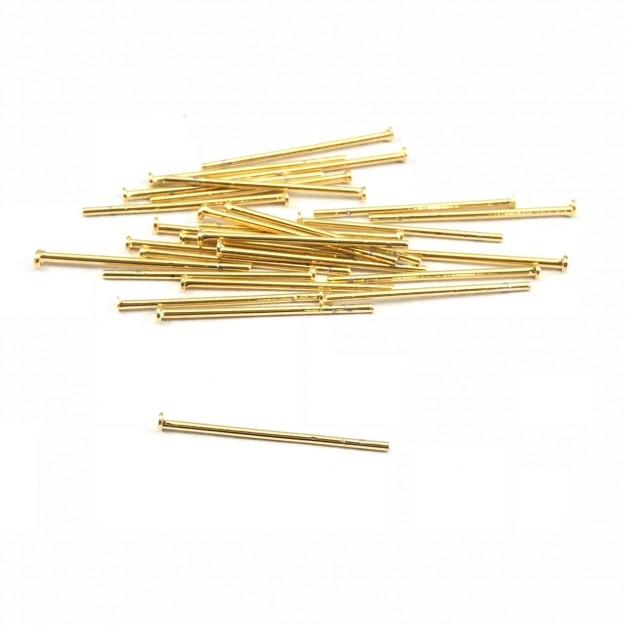 AC137 - Alfinete/Pino 2cm Folheado 1mls ouro - 5Grs