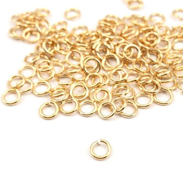 AC142 - Elo 4mm Banhado Cor Dourado - 5grs