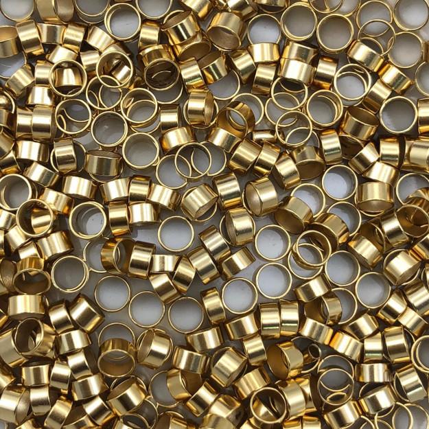 AC156 - Acessório Redondo 4mm Banhado Cor Dourado - 3Grs