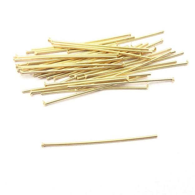 AC160 - Alfinete/Pino 3.5cm Folheado 1mls ouro - 5grs