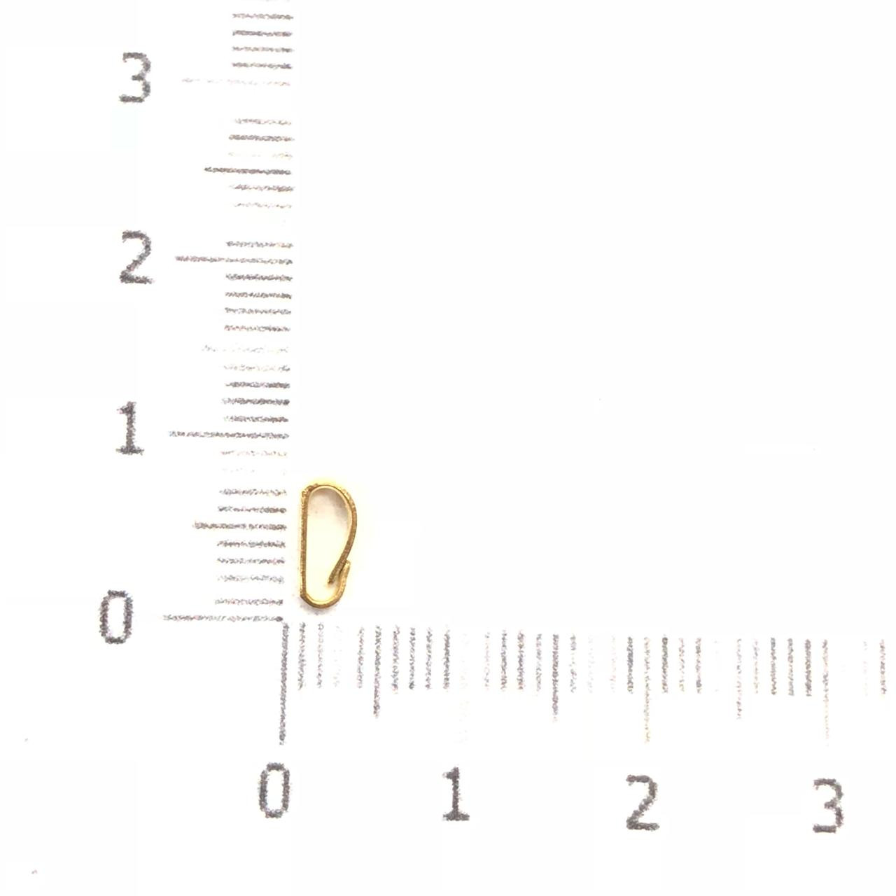 AC233 - Contra Argola Vazada 7mm Folheado 3mls ouro - 10Unids