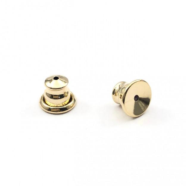 AC237 - Tarracha Sutien 8mm Banhado Cor Dourado - 2 Pares