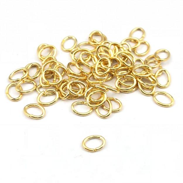 AC36 - Elo Oval 5mm Folheado 1mls Ouro - 5Grs