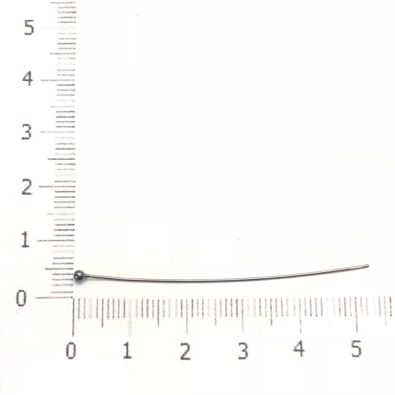 AC491 - Alfinete Bolinha 5cm Banhado Cor Grafite - 12Unids