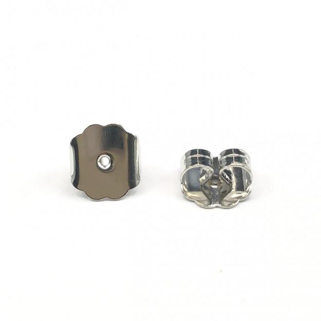 AC528 - Tarracha Maior 8mm Banhado Cor Prata - 05 Pares