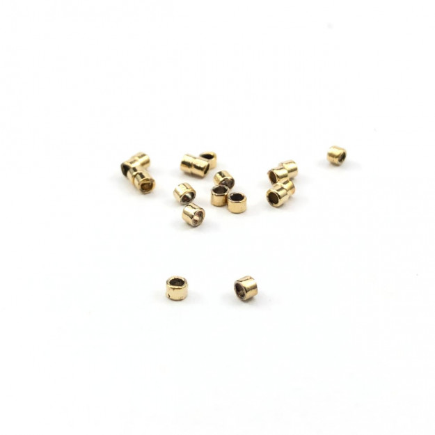 AC583 - Fixador Trava 1mm Banhado Cor Dourado - 1Grs