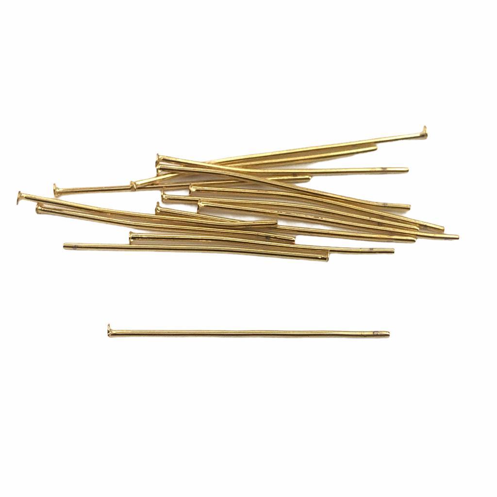 AC62 - Alfinete/Pino 3cm Banhado Cor Ouro - 5Grs