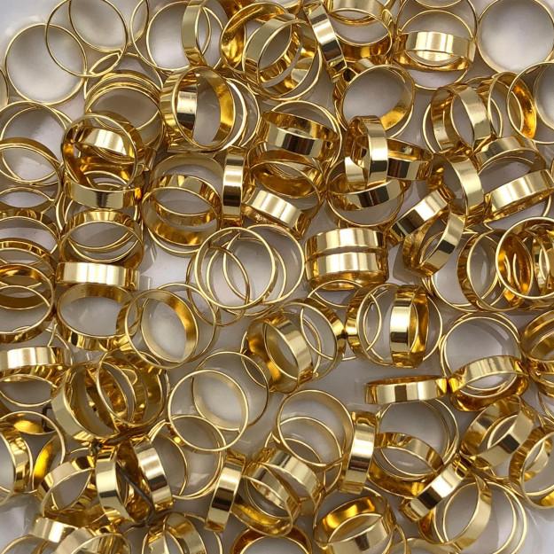 AC88 - Acessório Redondo 8mm Banhado Cor Dourado - 3Grs
