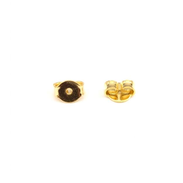 AC90 - Tarracha Borboleta 5mm Banhado Cor Dourado - 10 Pares