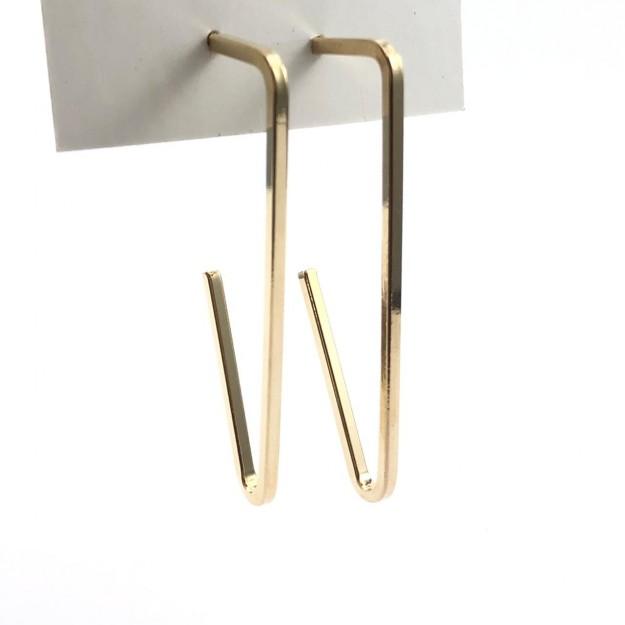 AG01 - Argola Triangular Folheado 1mls ouro - 01Par