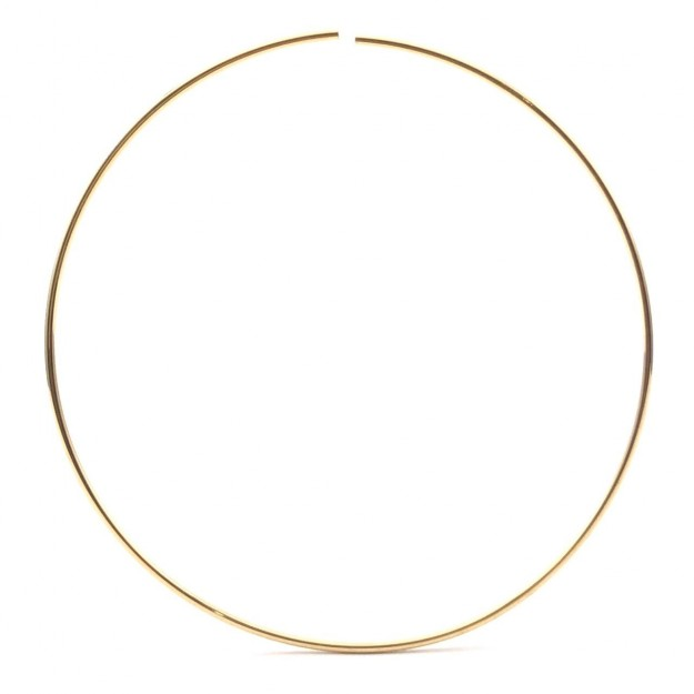 AG23 - Argola Aberta 6cm Folheado 1mls Ouro - 2Unids
