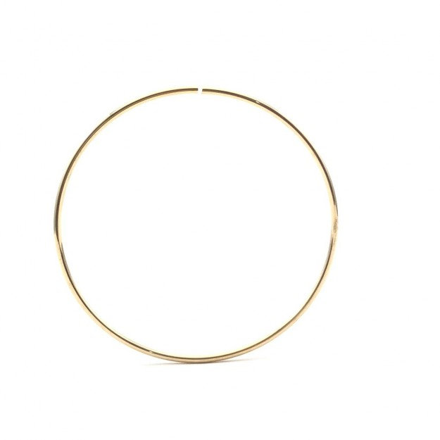 AG26 - Argola Aberta 4cm Banhado Cor Dourado - 2Unids