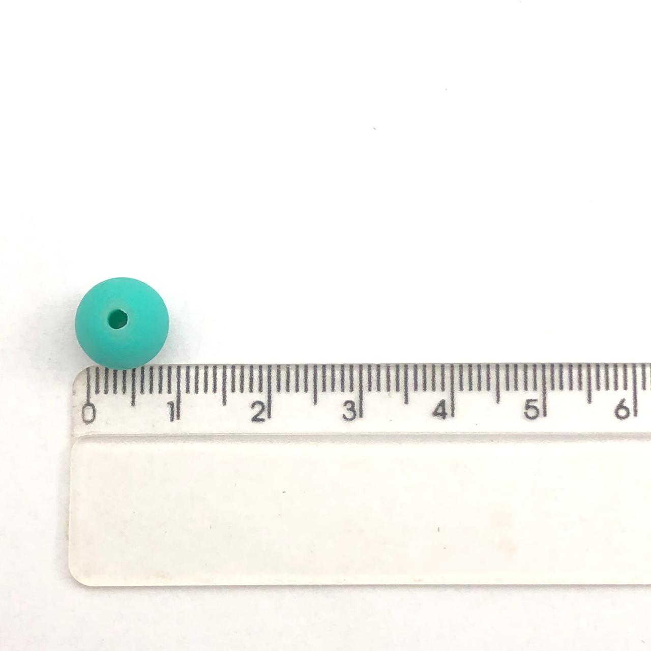 BOL09 - Bola Emborrachada Turquesa 10mm - 20Gr