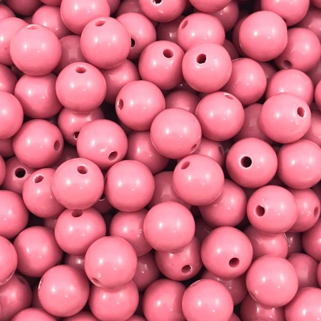BOL101 - Bola Resina Rosa 10mm - 20Grs