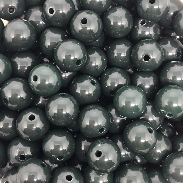 BOL107 - Bola Resina Verde Musgo 10mm - 20Gr