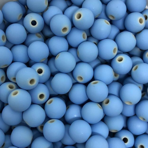 BOL154 - Bola Emborrachada Azul Celeste 8mm - 20Grs
