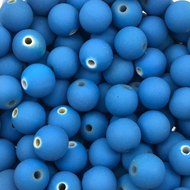 BOL155 - Bola Emborrachada Azul Celeste 10mm - 20Grs