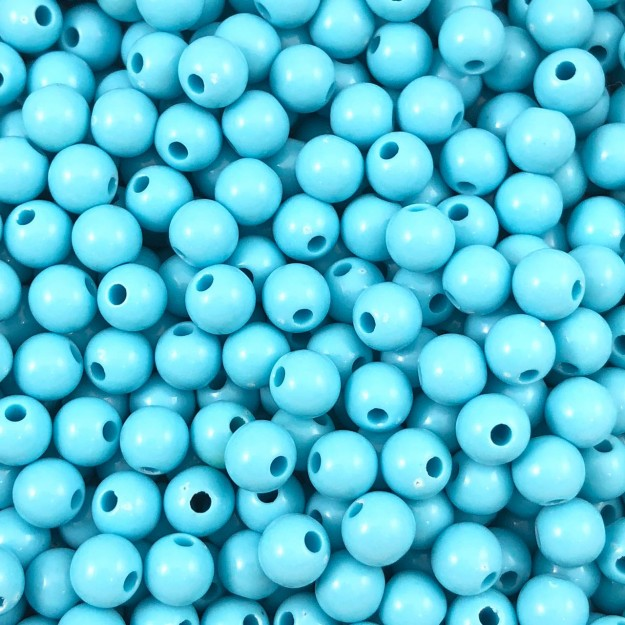 BOL167 - Bola Resina Azul Claro 6mm - 20Grs