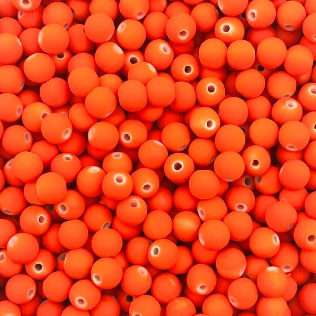 BOL184 - Bola Emborrachada Laranja Neon 6mm - 20Grs