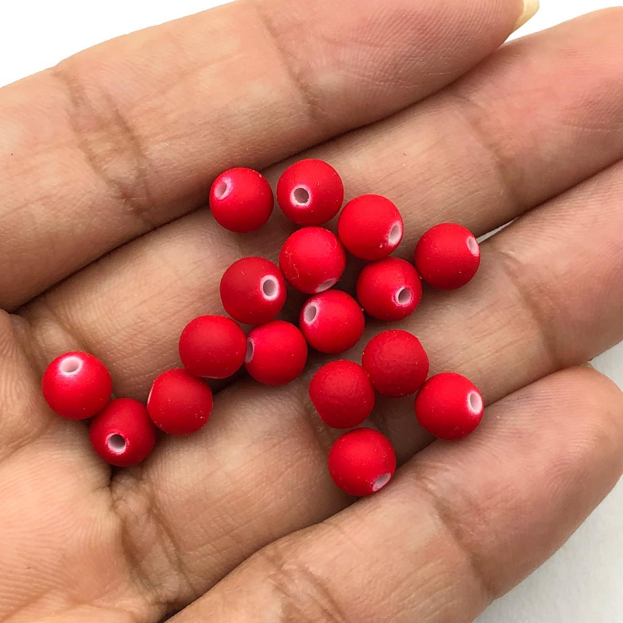 BOL186 - Bola Emborrachada Vermelho 6mm - 20Grs