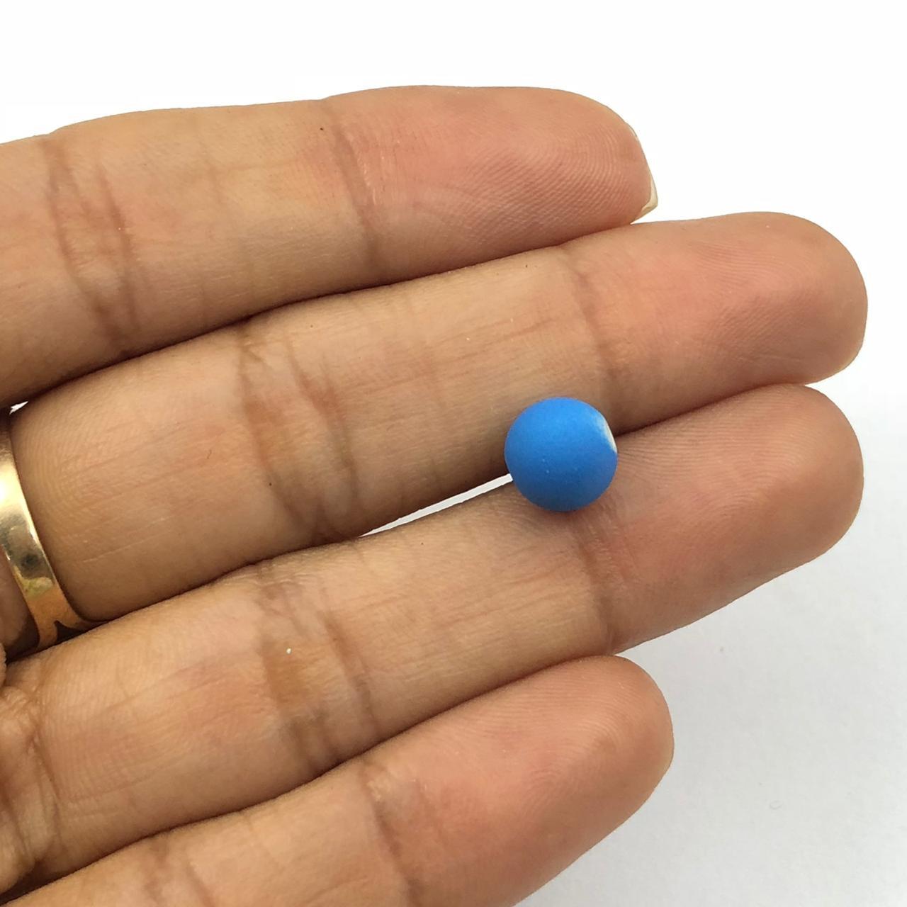 BOL191 - Bola Emborrachada Azul 8mm - 20Grs