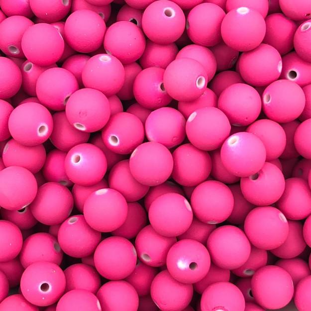 BOL193 - Bola Emborrachada Pink 8mm - 20Grs