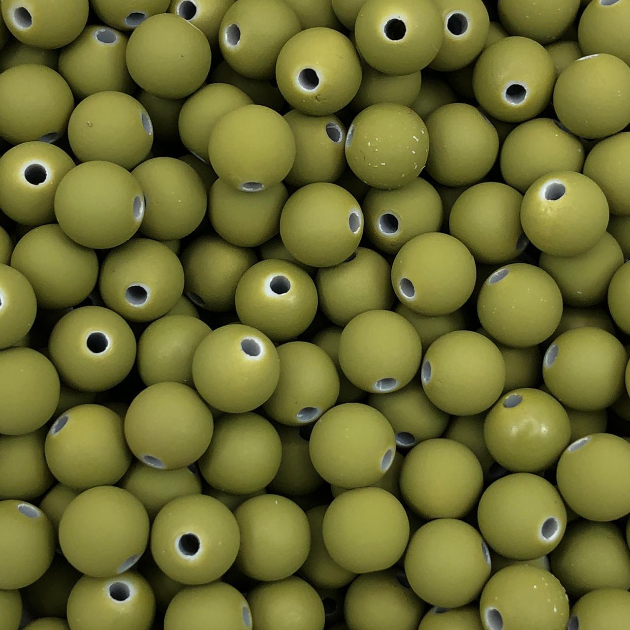 BOL263 - Bola Emborrachada Verde Militar 8mm - 20Grs