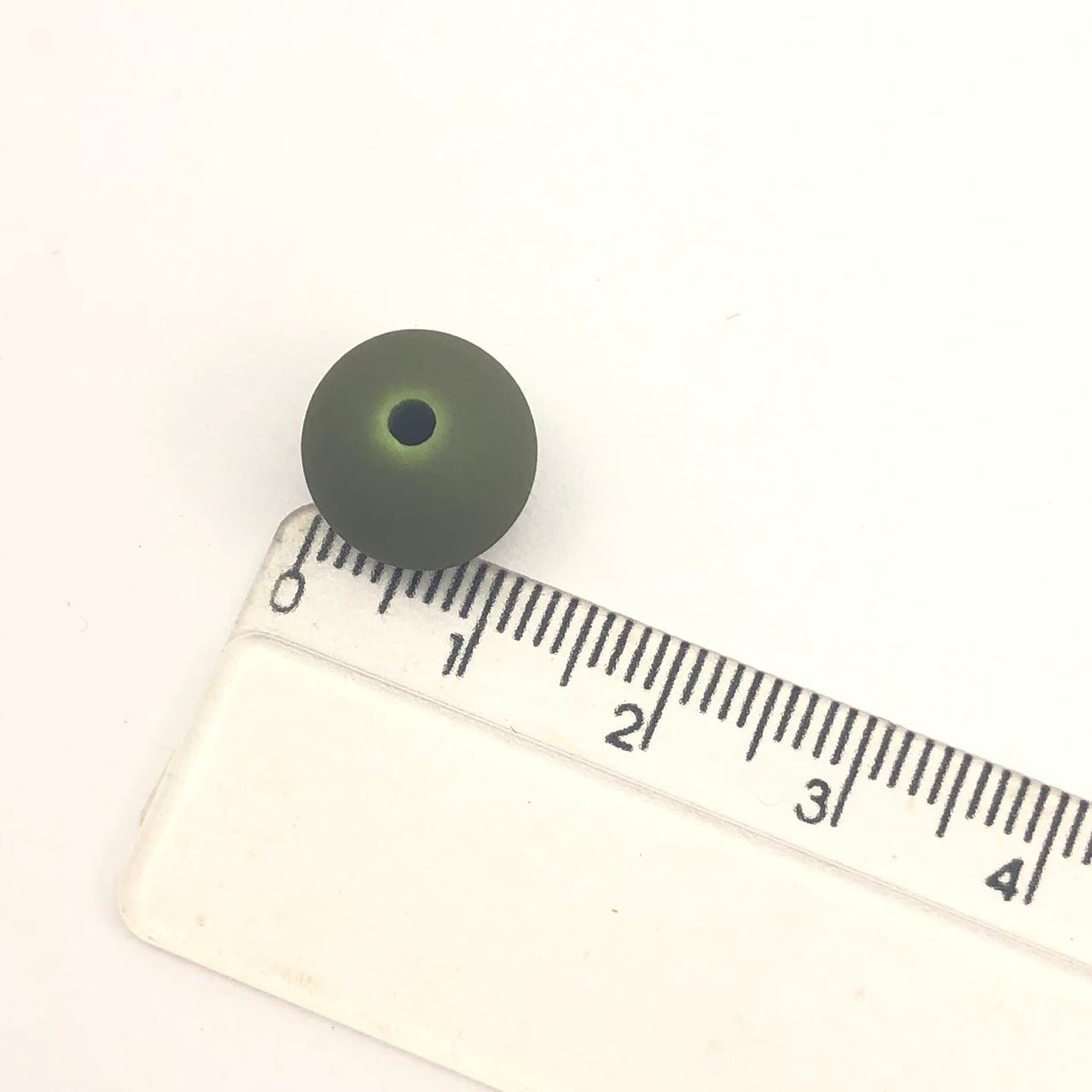 BOL284 - Bola Emborrachada Verde Musgo 12mm - 20Grs