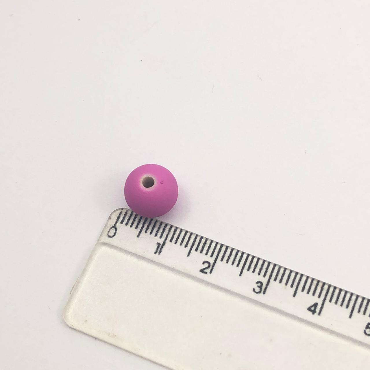 BOL289 - Bola Emborrachada Fuchsia 10mm - 20Grs