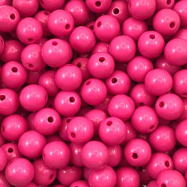 BOL322 - Bola Resina Rosa Pink 10mm - 20Grs