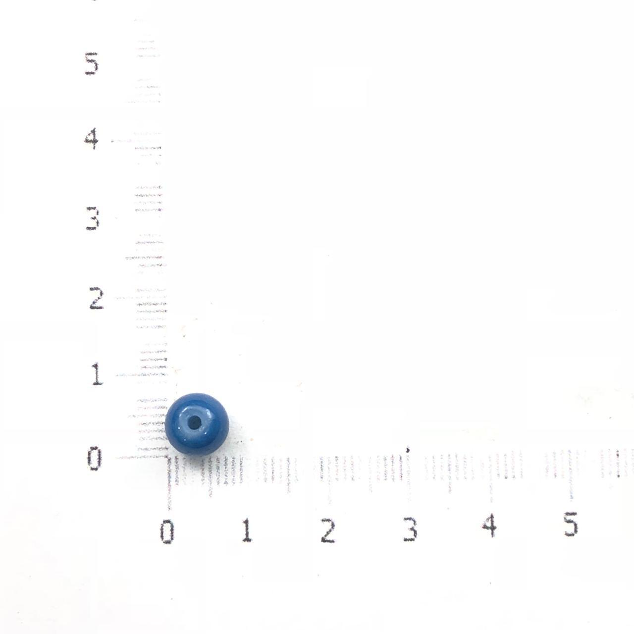 BOL411 - Bola de Vidro Pintado 8mm Azul Jeans - 60Unids