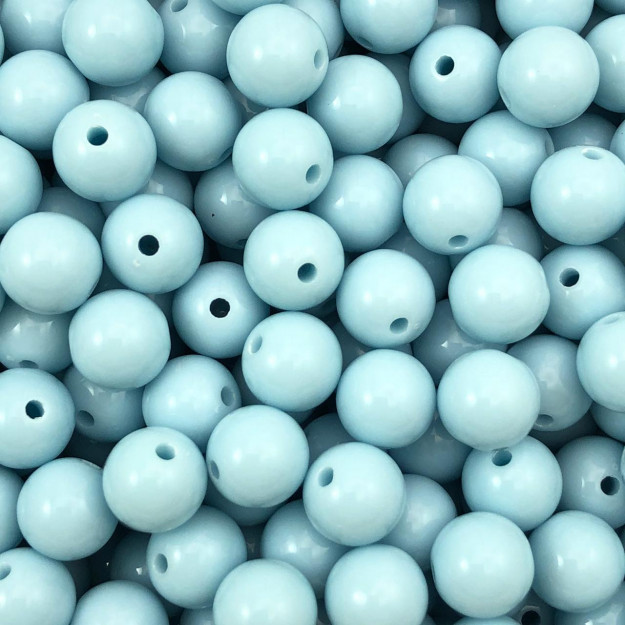BOL550 - Bola Resina Azul Claro 10mm - 20Grs